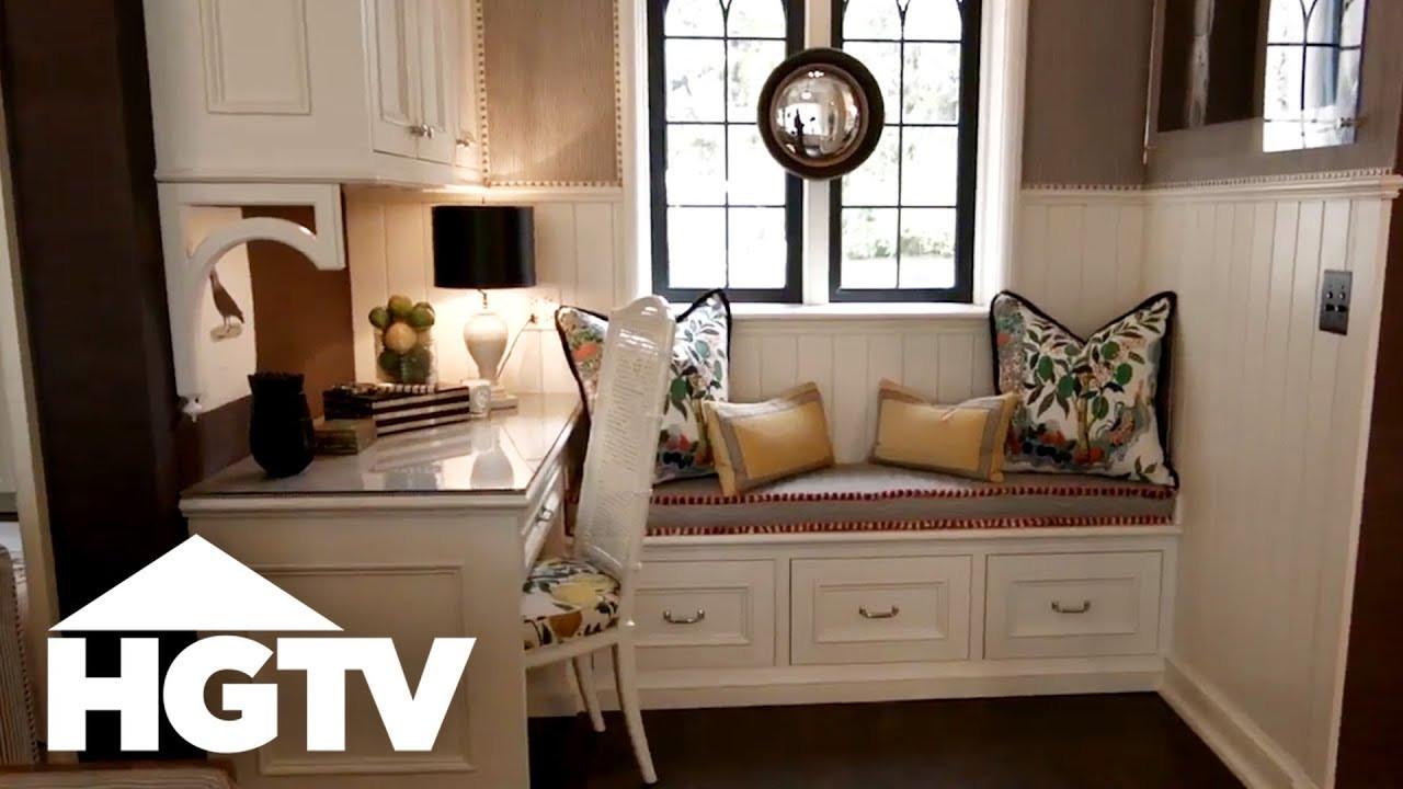 Kitchen Nooks With Storage  Cozy Kitchen Nook With Built In Storage HGTV