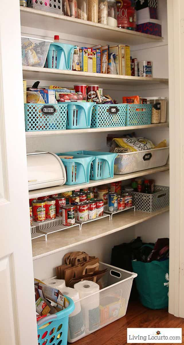 Kitchen Pantry Organizers Ideas  Kitchen Pantry Organization Makeover Free Printable Labels