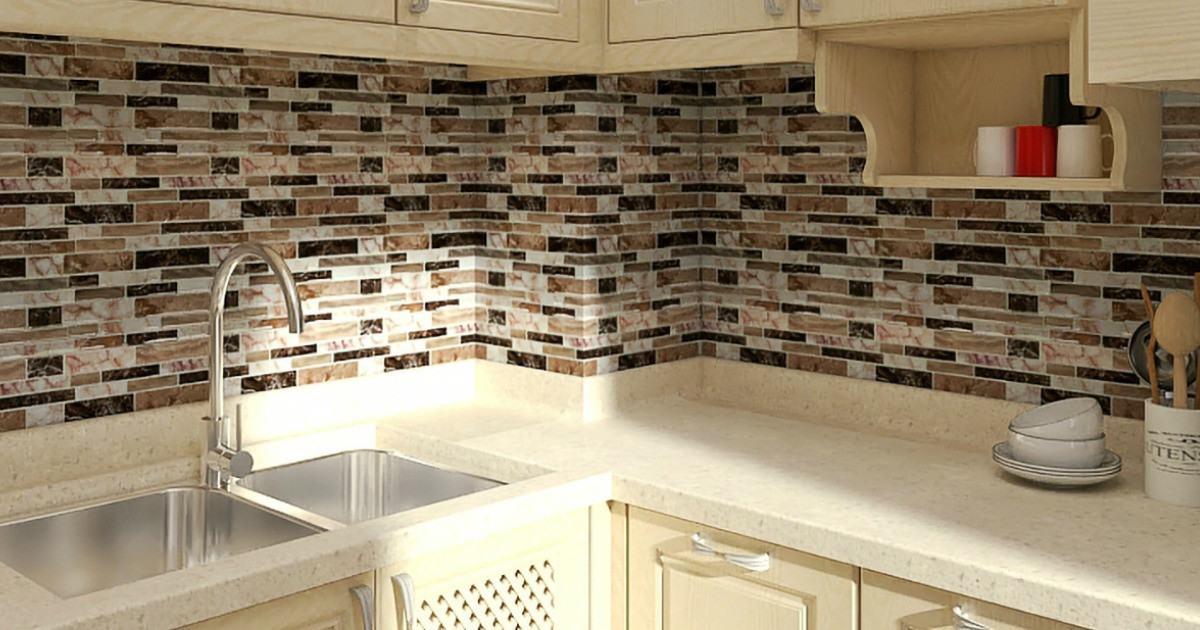 Kitchen Peel And Stick Backsplash  Up to f Peel & Stick Kitchen Backsplash Tile at Walmart