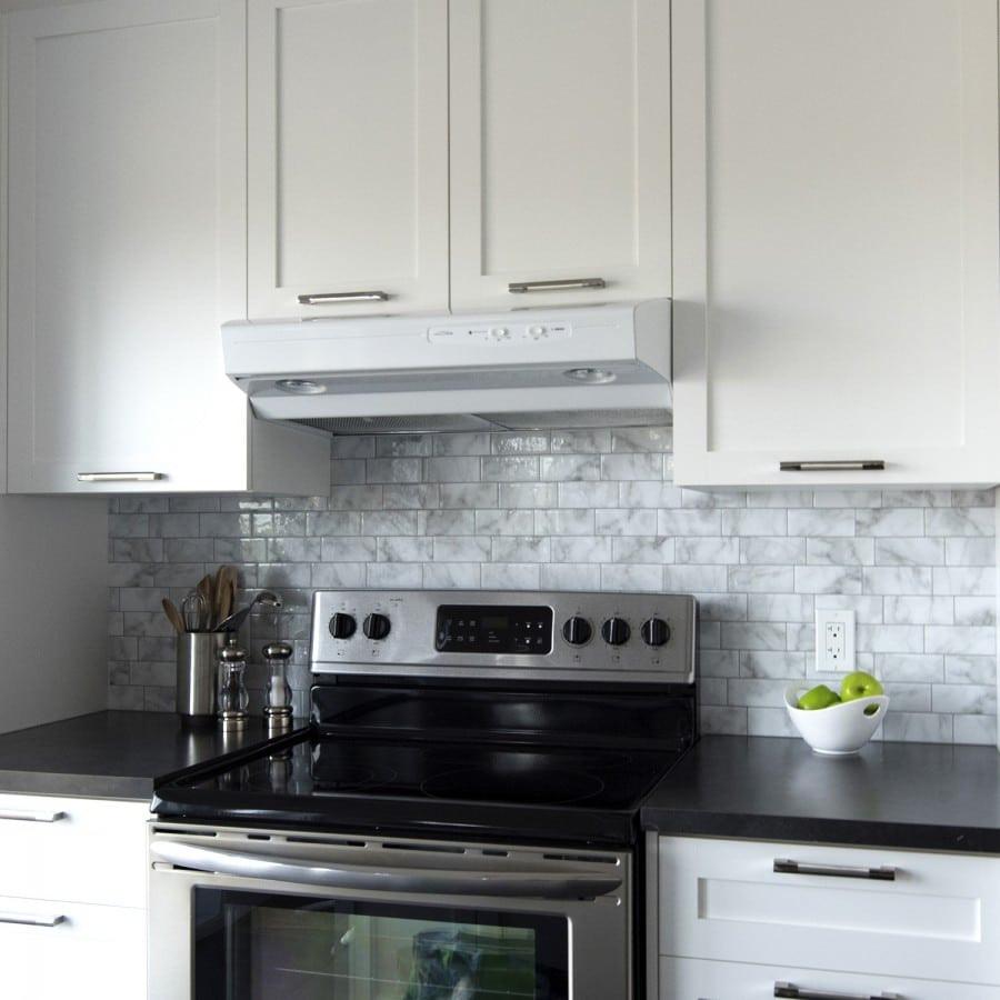 Kitchen Peel And Stick Backsplash  Metro Carrera Peel & Stick Smart Tiles Backsplash