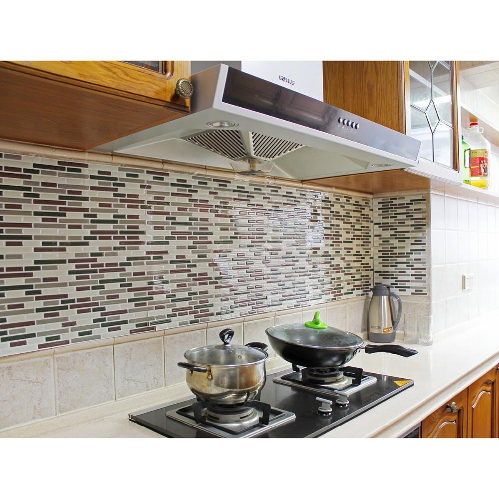 Kitchen Peel And Stick Backsplash  Fancy fix Vinyl Peel and Stick Decorative Backsplash