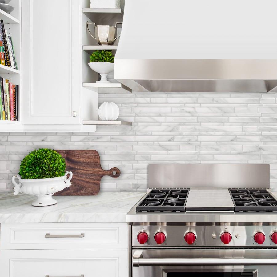 Kitchen Peel And Stick Backsplash  Milano Massa Smart Tiles Peel & Stick Tile Backsplash