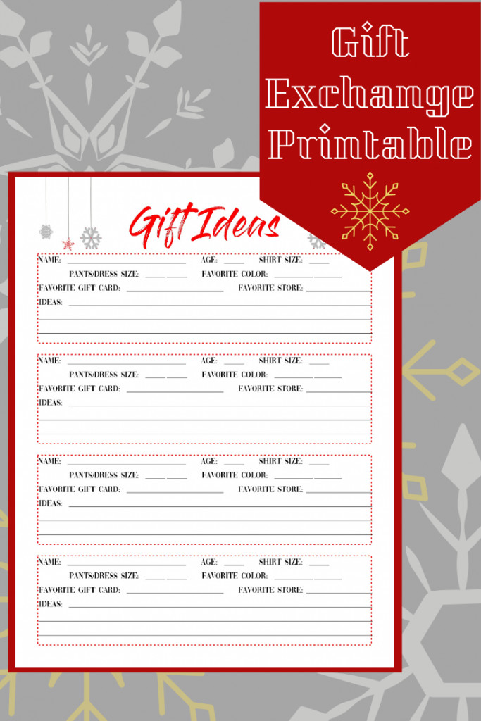 Large Family Christmas Gift Exchange Ideas  Free printable Gift Ideas page Great for t exchange