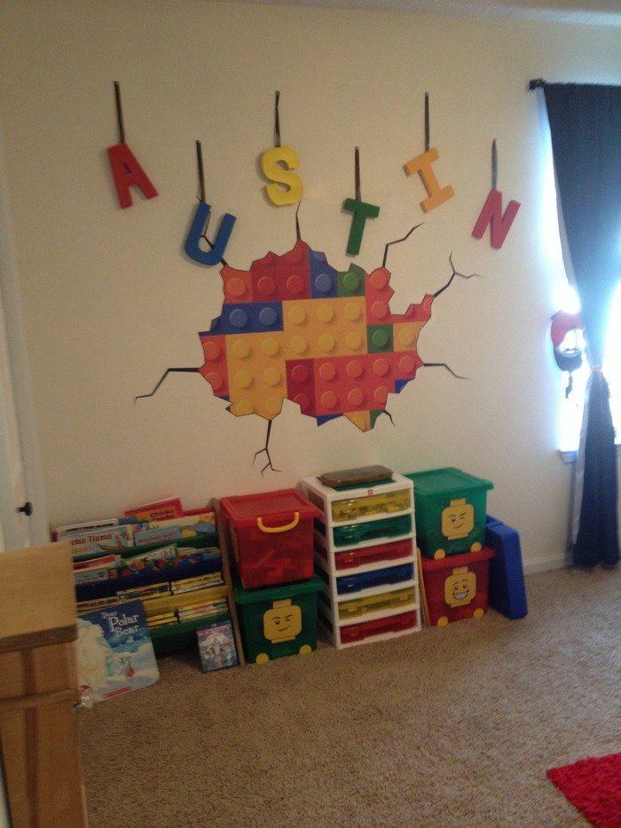 Lego Kids Room  Lego themed bedroom ideas