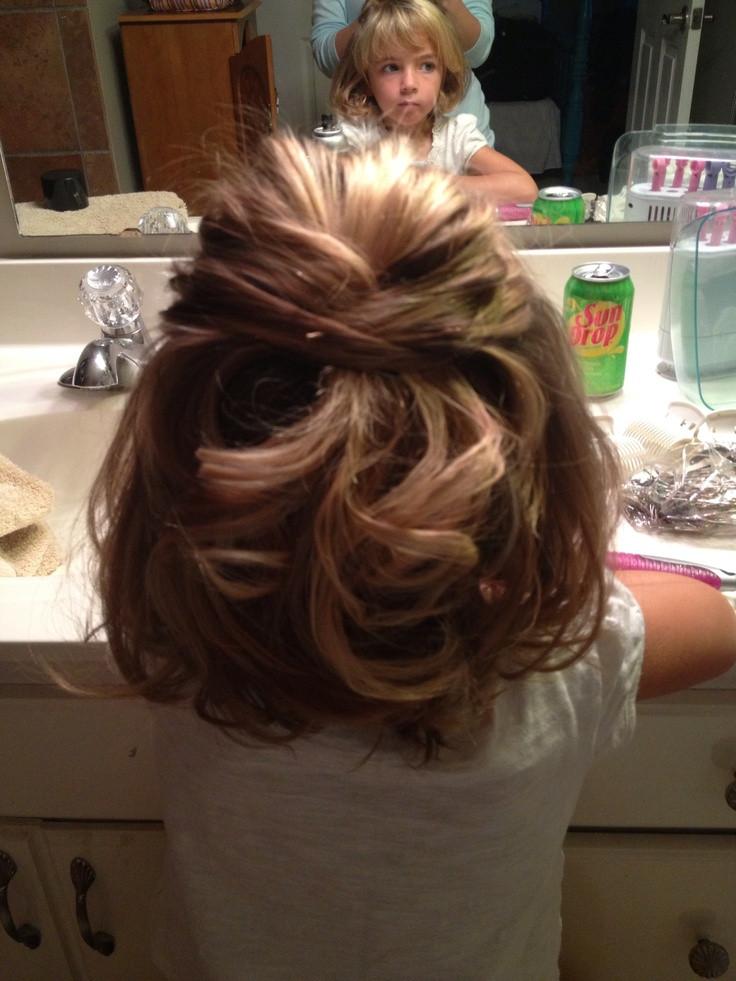 Little Girl Hairstyles For Short Hair Pinterest  Little girls wedding hair My niece Annabel loved her