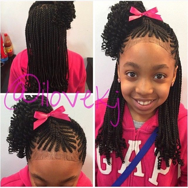 Little Girl Ponytail Hairstyles African American  142 best images about African American Hair on Pinterest