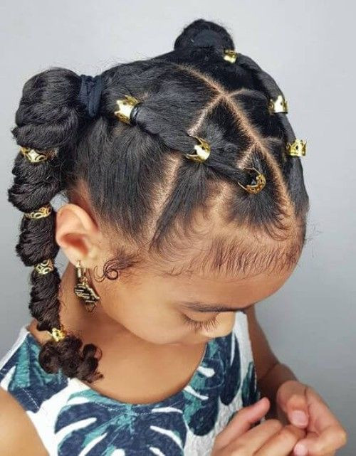 Little Girl Ponytail Hairstyles African American  10 Heat Free Kids Natural Hairstyles for Easter TGIN