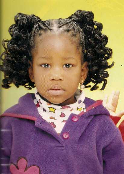 Little Girl Ponytail Hairstyles African American  curly ponytails hairstyle African American little girls