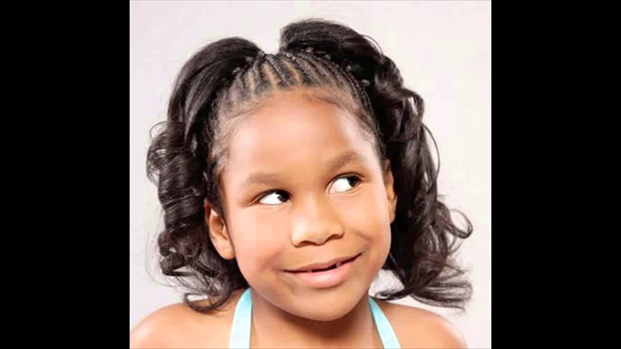Little Girl Ponytail Hairstyles African American  African American Little Girl Kids Ponytail Hairstyles
