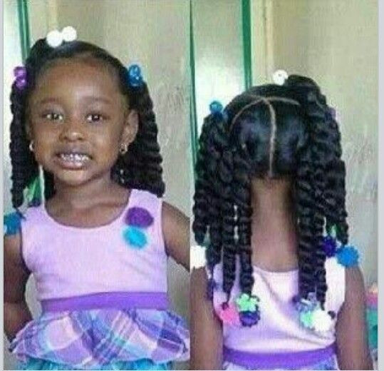 Little Girl Ponytail Hairstyles African American  76 best African American Princess hairstyles images on