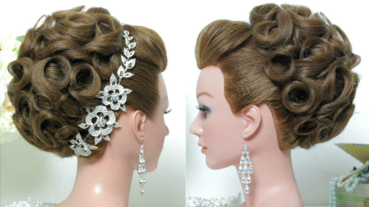 Long Hairstyles For Weddings  Bridal hairstyle Wedding updo for long hair tutorial