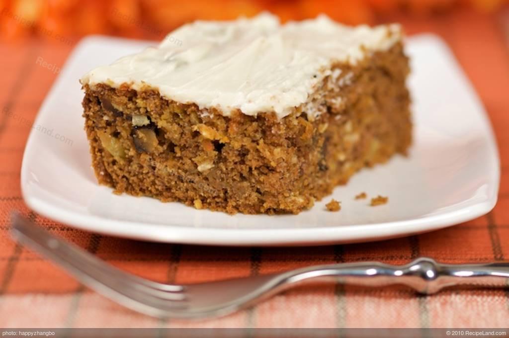 Low Fat Carrot Cake  Carrot Cake low fat Recipe