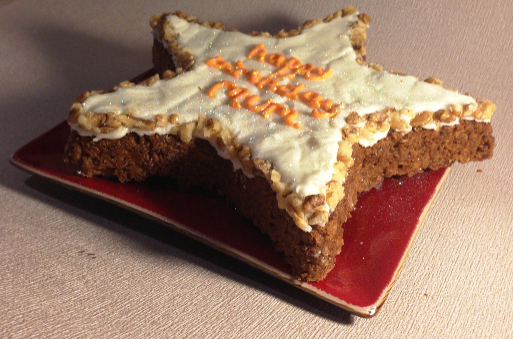 Low Fat Carrot Cake  Mum's Low Fat Carrot and Walnut Birthday Cake with Cream
