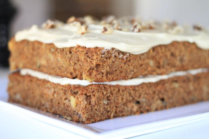 Low Fat Carrot Cake  Whole Grain Low Fat Carrot Cake – DessertedPlanet