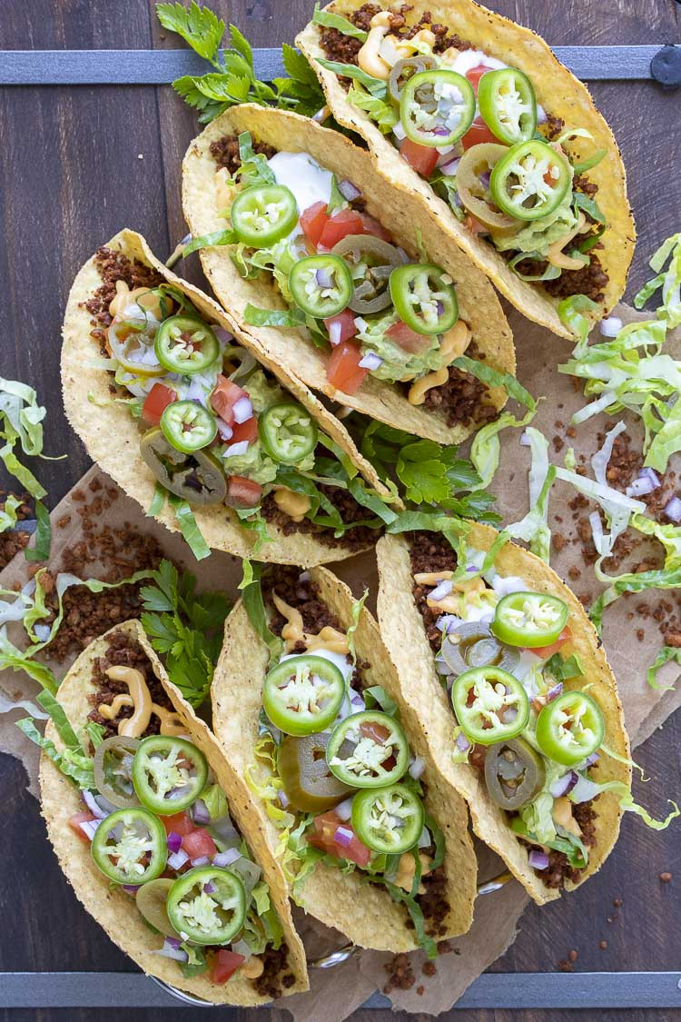 Low Fat High Protein Recipes  Low Fat Vegan Taco Meat Made with Whole Foods Veggies