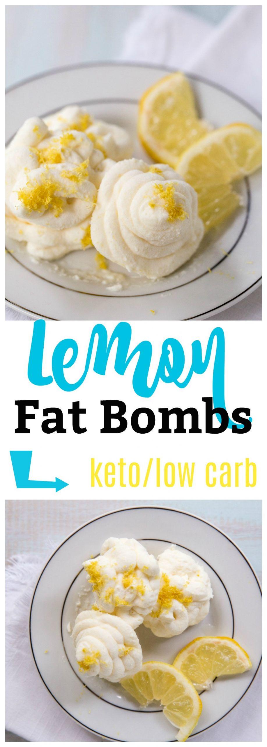 Low Fat Keto Recipes  Easy Lemon Keto Bomb Recipe Low Carb Friendly