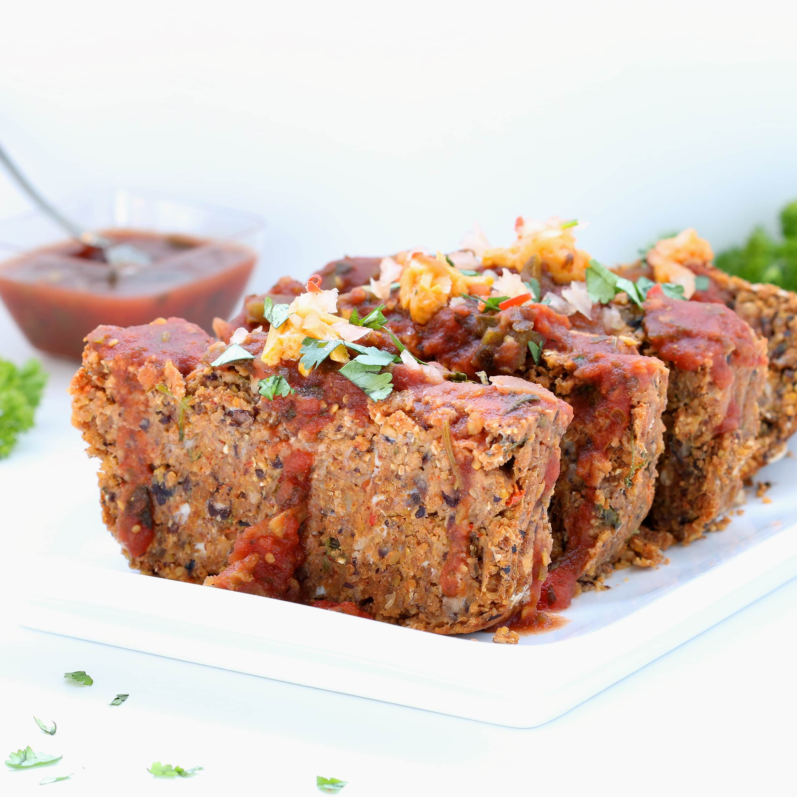 Low Fat Meatloaf  Mexican Vegan Meatloaf Gluten free Plant based Low Fat