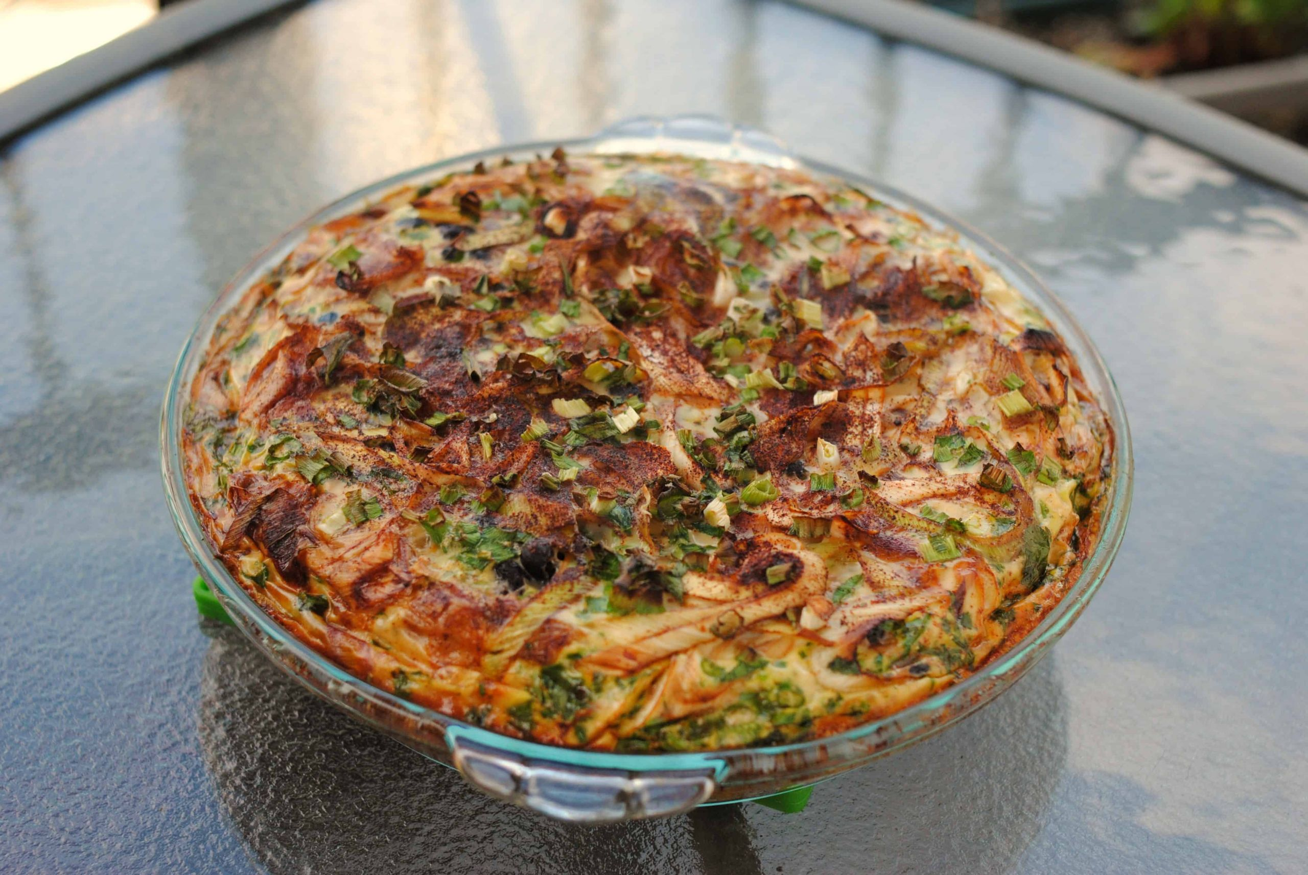 Low Fat Paleo Recipes  Layered Frittata low amine gluten free dairy free yolk