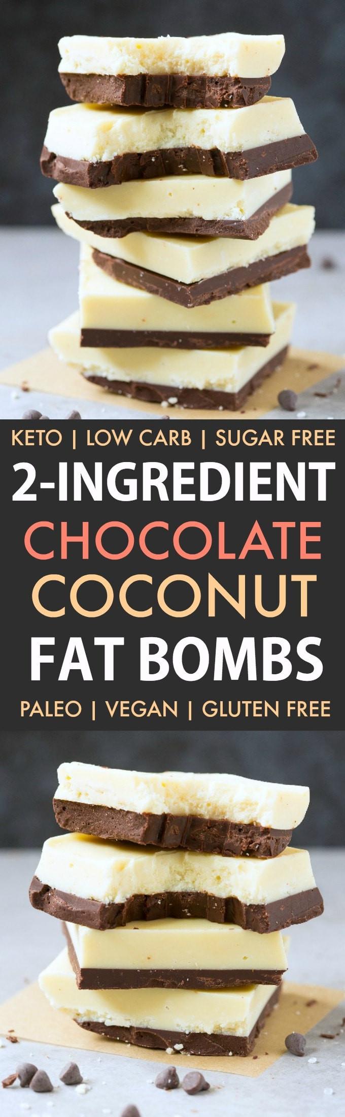 Low Fat Paleo Recipes  Low Carb Keto Chocolate Coconut Fat Bombs Paleo Vegan