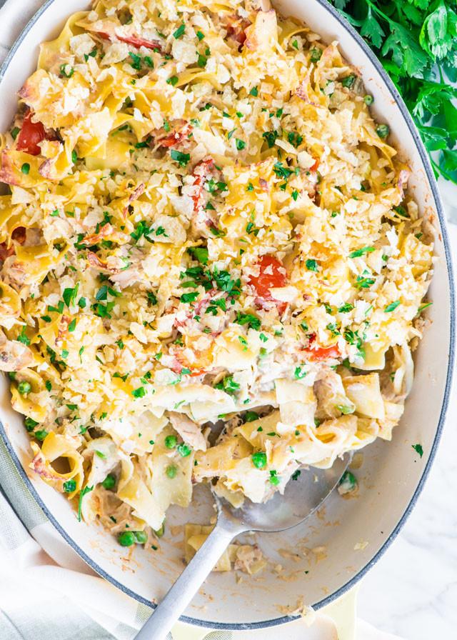 Low Fat Tuna Noodle Casserole  Low fat tuna noodle casserole Naked photo