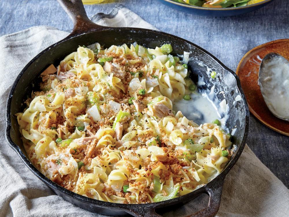 Low Fat Tuna Noodle Casserole  Creamy Tuna Noodle Casserole & Peas & Breadcrumbs Recipe
