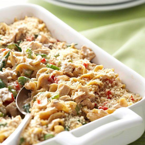 Low Fat Tuna Noodle Casserole  Tuna Noodle Casserole Recipe