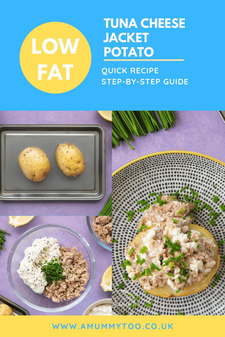 Low Fat Tuna Recipes  Low fat tuna cheese jacket potato recipe A Mummy Too