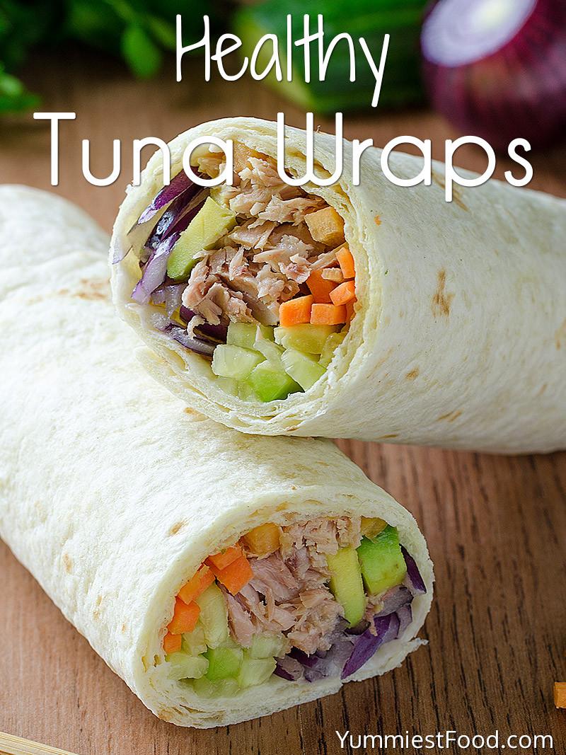 Low Fat Tuna Recipes  Low Calorie and Low Fat Tuna Wrap Recipe
