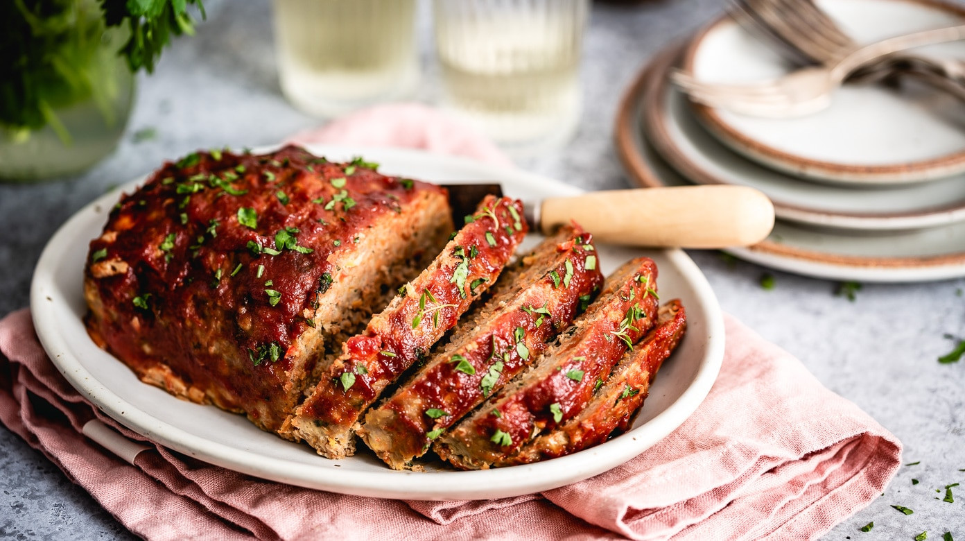 Low Fat Turkey Meatloaf  The Best Ground Turkey Meatloaf Recipe VIDEO Foolproof