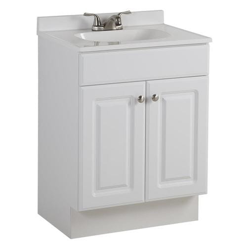 Lowes 24 Bathroom Vanity  Project Source 24 5 in White Single Sink Bathroom Vanity