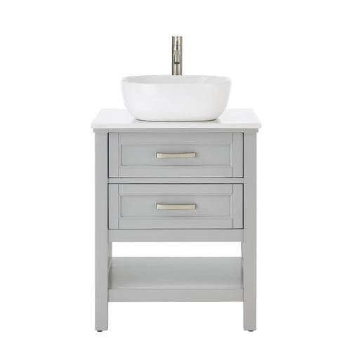 Lowes 24 Bathroom Vanity  Style Selections Cromlee 24 in Light Gray Single Sink