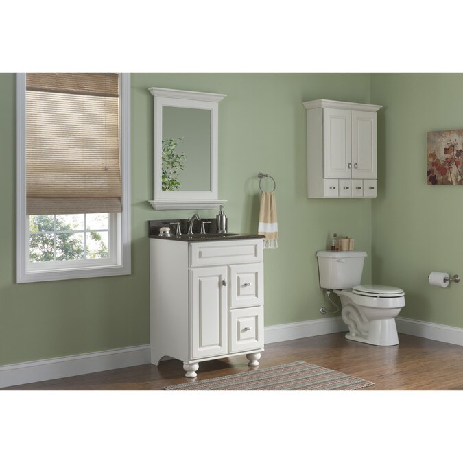 Lowes 24 Bathroom Vanity  Diamond Fresh Fit Britwell Cream Traditional Bathroom