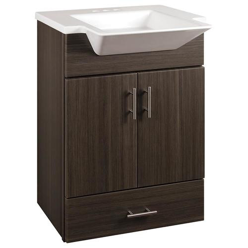 Lowes 24 Bathroom Vanity  Style Selections Euro 24 5 in Gray Single Sink Bathroom