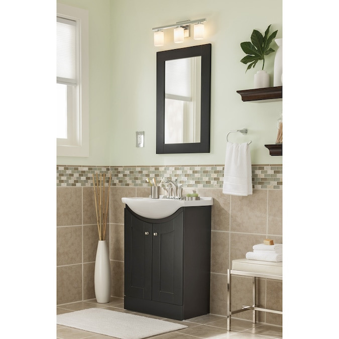 Lowes 24 Bathroom Vanity  Style Selections Euro Vanity Espresso Belly Sink Single