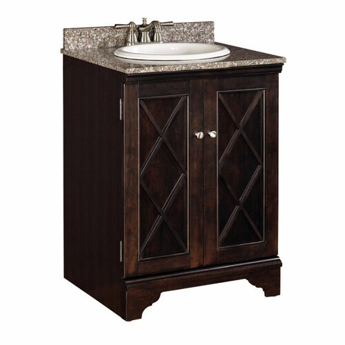 Lowes 24 Bathroom Vanity  Allen roth Whitney 24 in Single Sink Bathroom Vanity
