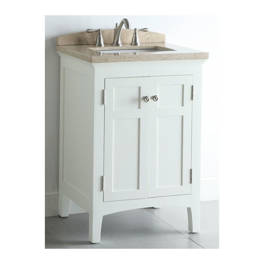 "Lowes 24 Bathroom Vanity  $339 00 24"" wide Shop allen roth 24 in White Windelton"