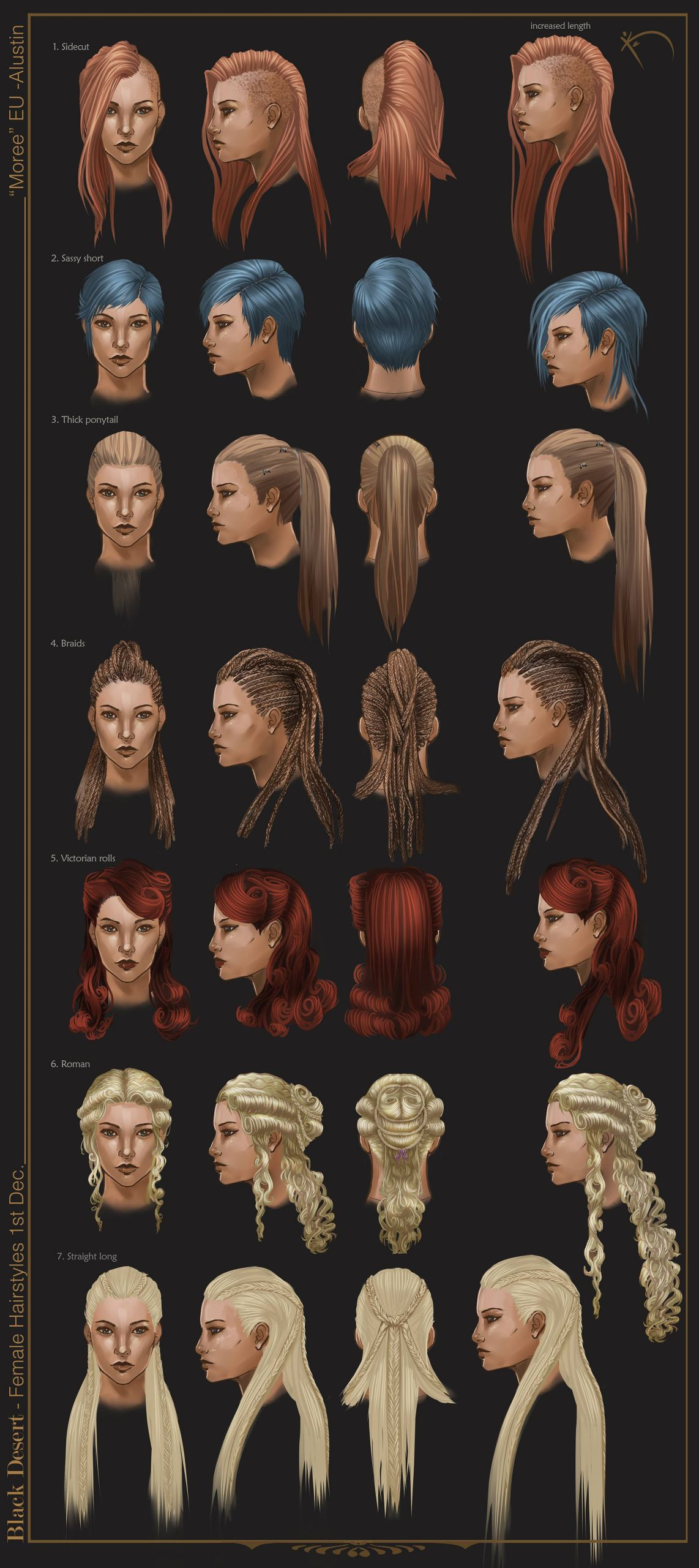 Male To Female Hairstyles  MALE & FEMALE Hairstyles including SKETCHES UPDATE