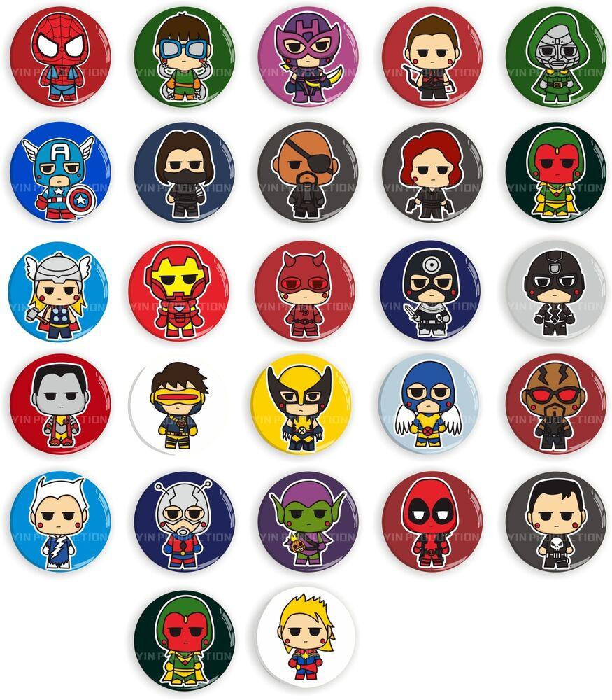 Marvel Pins  CUSTOM RECREATION MARVEL SUPER HERO THE AVENGERS BADGE PIN