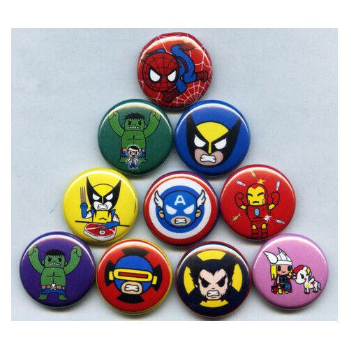 "Marvel Pins  MARVEL TOKIDOKI 1"" PINS BUTTONS avengers frenzies toys"