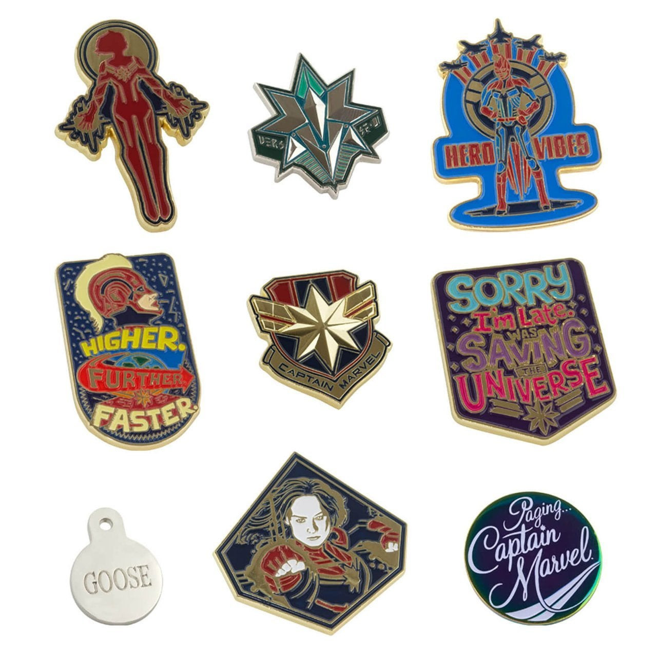 Marvel Pins  Captain Marvel Exclusive Pin Set Revealed