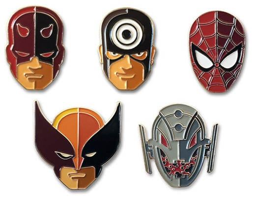 Marvel Pins  The Blot Says Marvel Character Portrait Enamel Pins by