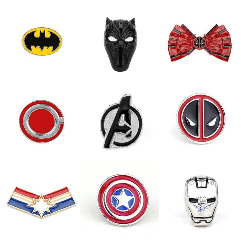 Marvel Pins  Marvel Pin Iron Man Deadpool Captain America Brooches Pins