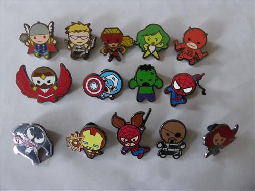 Marvel Pins  Disney Trading Pins Marvel Kawaii Art Collection plete