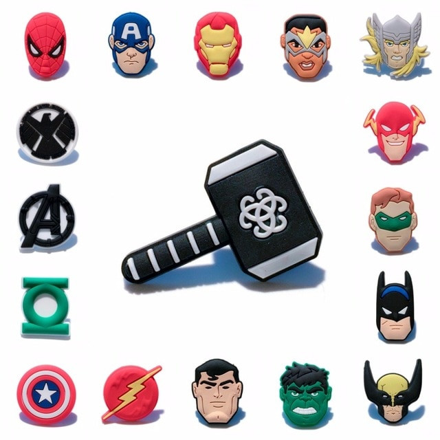 Marvel Pins  1PCS Marvel Avengers PVC Cartoon Icon Brooch Pins Badge