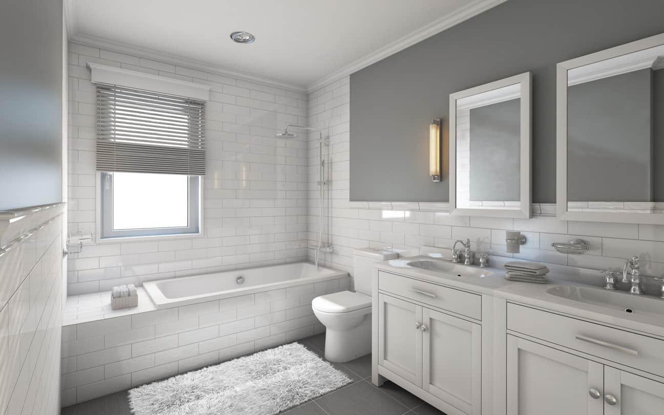 Master Bathroom Ideas Photo Gallery  33 Elegant White Primary Bathroom Ideas 2020 s
