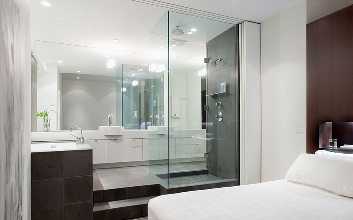 Master Bedroom Bathroom  Incredible Open Bathroom Concept for Master Bedroom
