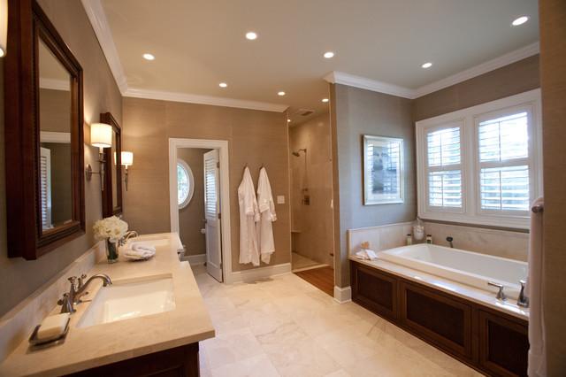 Master Bedroom Bathroom  British Colonial Master Suite Traditional Bathroom