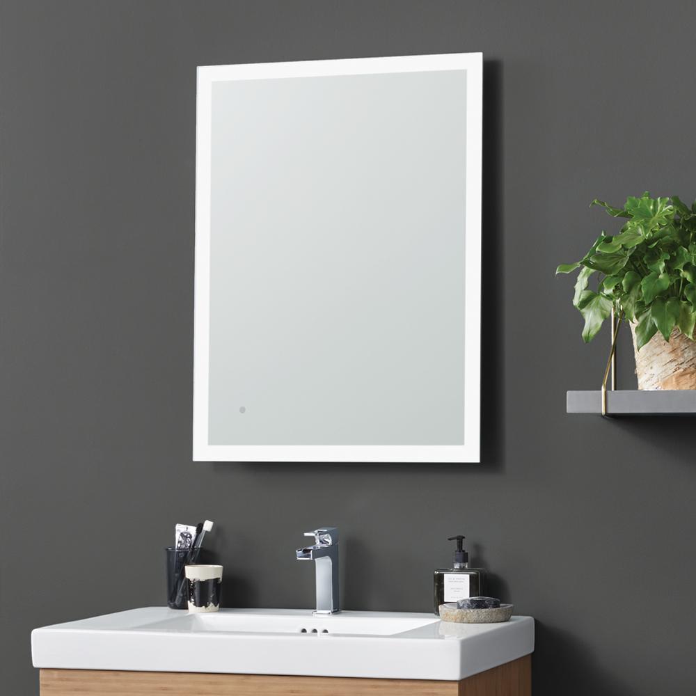 "Metal Framed Mirrors Bathroom  24"" Webster Contemporary Metal Framed Bathroom Mirror with"