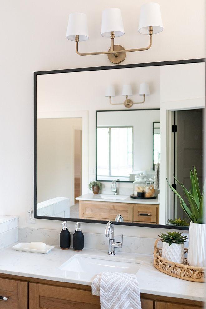 Metal Framed Mirrors Bathroom  Bathroom Mirror Modern farmhouse bathroom mirror with thin