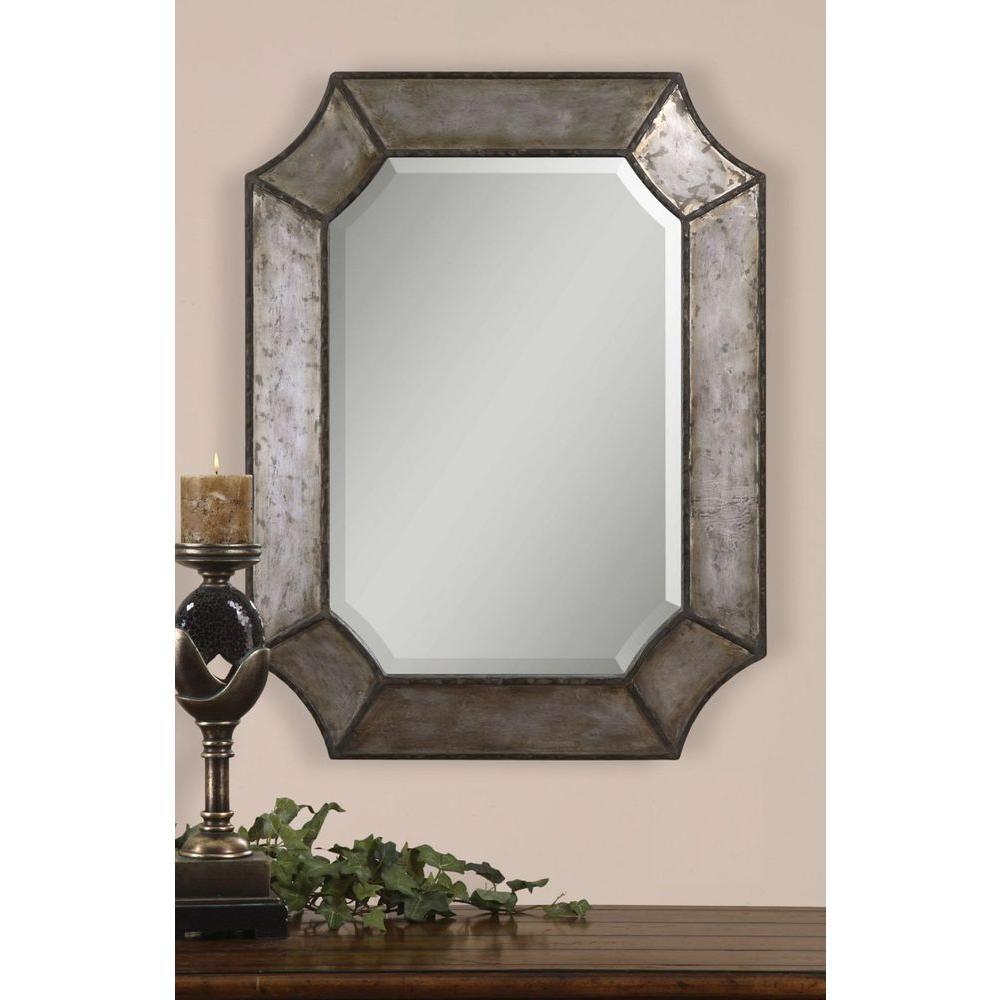 Metal Framed Mirrors Bathroom  Global Direct 24 in X 32 in Decorative Metal Framed